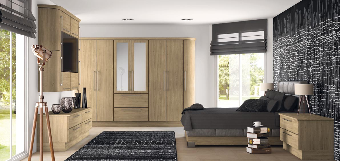 Duleek Odessa Oak Bedrooms   Supafit Bedrooms and Kitchens