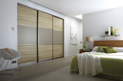 Coco, bolo, stone and grey sliding door wardrobe